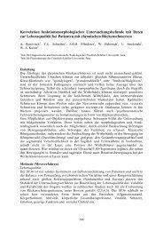 Korrelation funktionsmorphologischer Untersuchungsbefunde mit ...