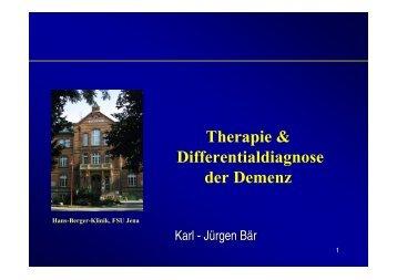 Therapie & Differentialdiagnose der Demenz