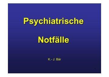 Psychiatrische Notfälle
