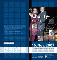 Charity- Gala - Justus-Liebig-Universität Gießen