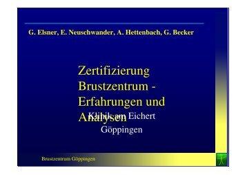 Zertifizierung Brustzentrum - Erfahrungen und Analysen