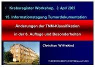 Änderungen der TNM-Klassifikation in der 6. Auflage und ...