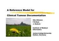 A Reference Model for Clinical Tumour Documentation
