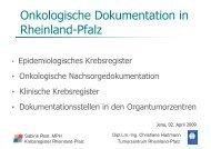Onkologische Dokumentation in Rheinland-Pfalz
