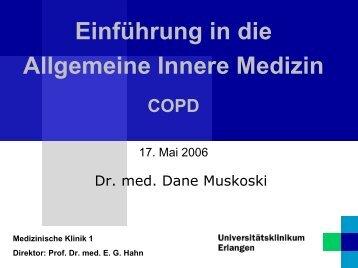 Einführung in die Allgemeine Innere Medizin COPD - Medizin 1