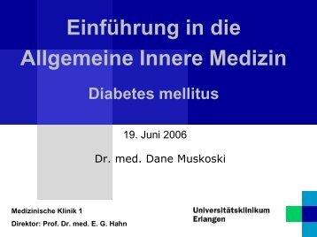 Einführung in die Allgemeine Innere Medizin Diabetes ... - Medizin 1