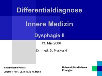 Differentialdiagnose Innere Medizin - Medizin 1