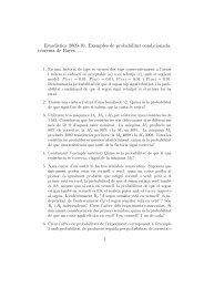 exemples probabilitat condicional, Bayes - DTIC