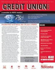 Spring 2013 Newsletter - University of Nebraska Federal Credit Union