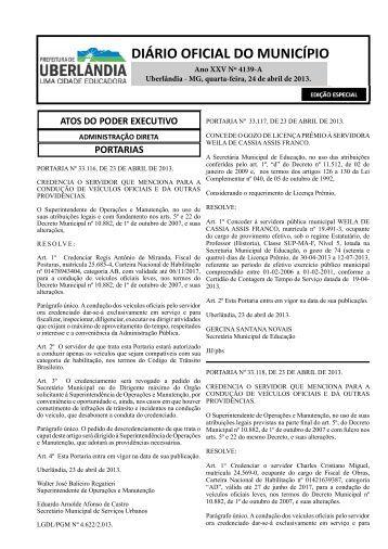 DIÁRIO OFICIAL DO