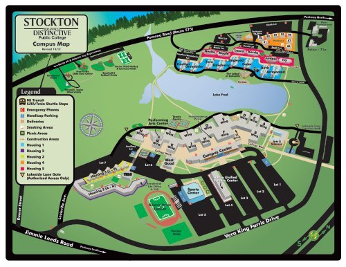 College Of New Jersey Campus Map.Campus Map Richard Stockton College Of New Jersey