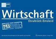 Wirtschaft Osnabrück-Emsland - Mediaservice-Osnabrück