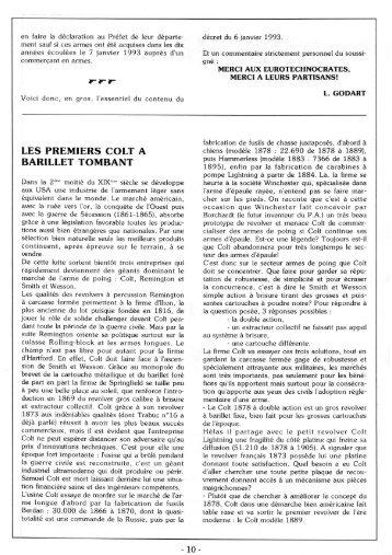 Les Premiers COLT à Barillet Tombant - Trabuc
