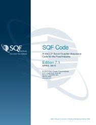 SQF Code, Ed  7 - Safe Quality Food Institute