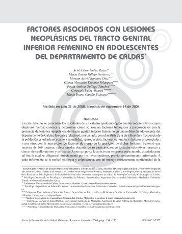 factores asociados con lesiones neoplásicas del tracto genital ...
