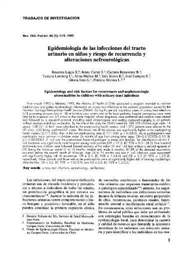 Epidemiologia de las infecciones del tracto urinario en - SciELO