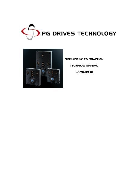 SIGMADRIVE PM TRACTION TECHNICAL MANUAL SK79649-01