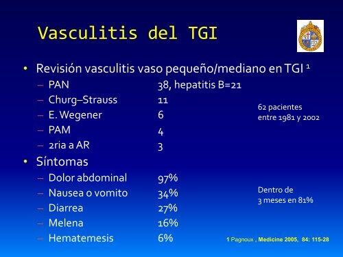Vasculitis del tracto gastrointestinal