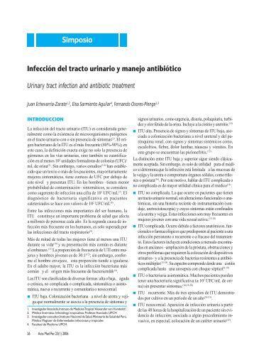 Infección del tracto urinario y manejo antibiótico Simposio - SciELO