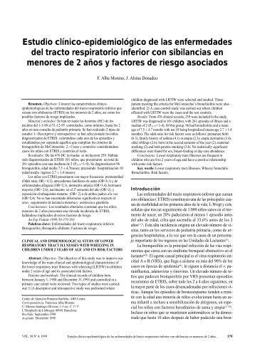 Estudio clínico-epidemiológico de las enfermedades del tracto ...