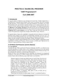 Pràctica Dilema del Presoner - DTIC - Universitat Pompeu Fabra