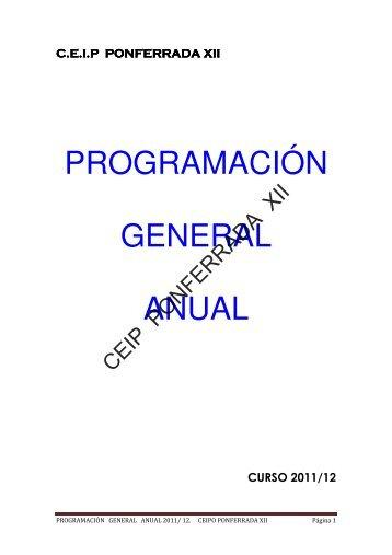 programación general anual - ceip ponferrada xii - Junta de Castilla ...