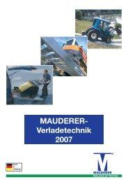 Verladetechnik 2007.qxd - bei der Mauderer Alutechnik GmbH