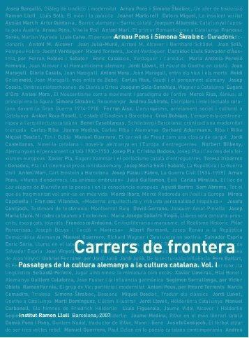 Carrers de frontera - Fira del Llibre de Frankfurt 2007