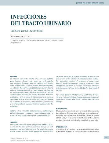 INFECCIONES DEL TRACTO URINARIO - Clínica Las Condes
