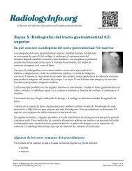 Rayos X (Radiografía) del tracto gastrointestinal (GI ... - RadiologyInfo