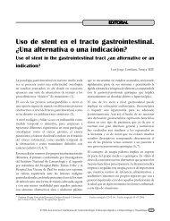 Uso de stent en el tracto gastrointestinal. ¿Una alternativa o una ...