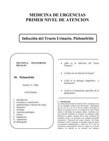 Infección del Tracto Urinario. Pielonefritis
