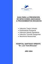 GUIA PARA LA PREVENCIÓN DE INFECCIONES ASOCIADAS A ...