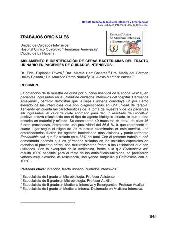 INFECCIÓN DEL TRACTO URINARIO EN LA UCI