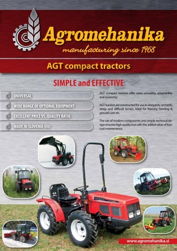 AGT tractor broshure.. - Glasshouse Tractors