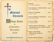 Printable PDF file of this issue - The Medieval Chronicle