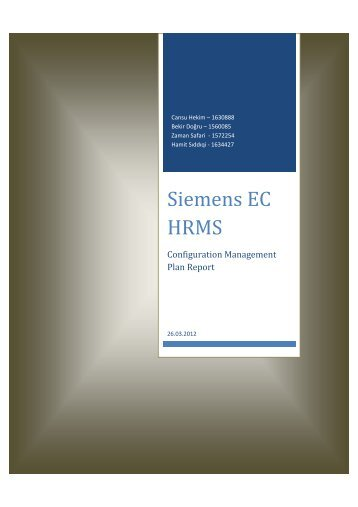 Siemens EC HRMS - Senior Projects - Middle East Technical ...