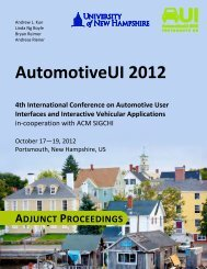 12: Adjunct Proceedings - Automotive User Interfaces and ...