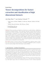 Tensor decompositions for feature extraction and classification of ...