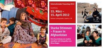Starke Stimmen – Frauen in Afghanistan - medica mondiale eV