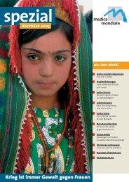 Krieg ist immer Gewalt gegen Frauen - medica mondiale eV