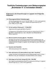 Textliche Festsetzungen zum Bebauungsplan ... - Achstetten