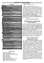 Anemiile œ dr. Dorin Dragoş Cuprins Prescurtări ... - dr. Dorin Dragos