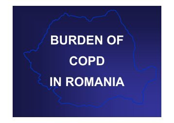 BURDEN OF COPD IN ROMANIA