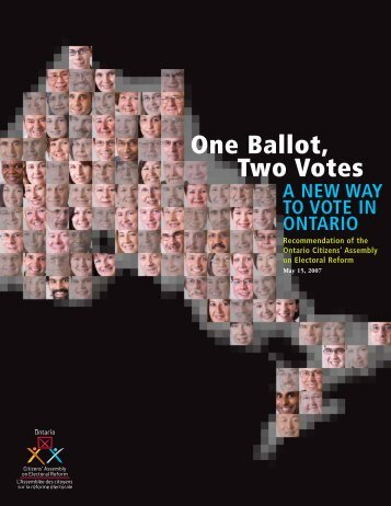 One Ballot, Two Votes - Ontario Citizens' Assembly on Electoral ...