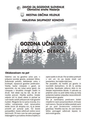 VODNIK učne poti: pdf - Zavod za gozdove Slovenije