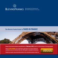 The Blevins Franks Guide To TAXES IN FRANCE