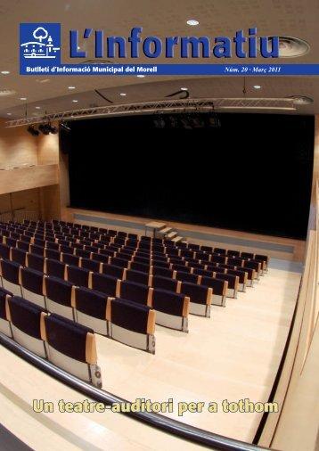 Un teatre-auditori per a tothom - Ajuntament de El Morell