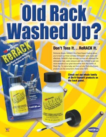 Don't Toss It...ReRACK It. - Plasti Dip