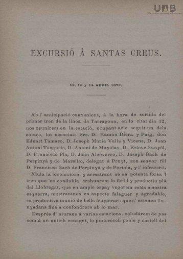EXCURSIO A SANTAS CREUS.
